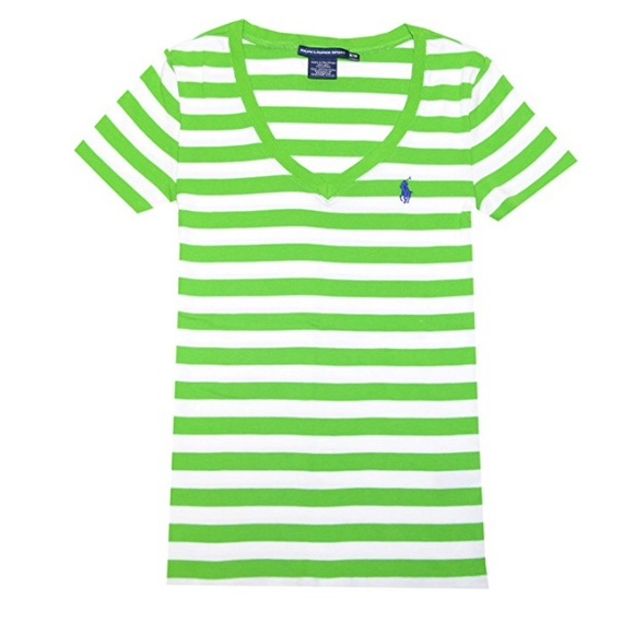 Ralph Lauren Sport Striped Pony Logo T-shirt, Sz M